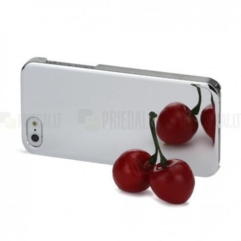 Veidrodinis sidabrinis Apple iPhone SE (5, 5s) dėklas (dėkliukas)