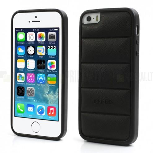 """Juodas """"Infisens"""" silikoninis Apple iPhone SE (5, 5s) dėklas (dėkliukas)"""