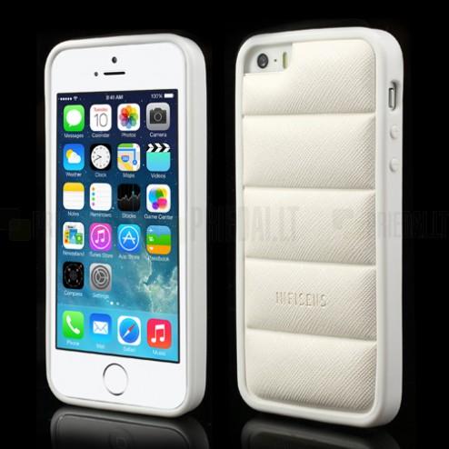 """Baltas """"Infisens"""" silikoninis Apple iPhone SE (5, 5s) dėklas (dėkliukas)"""