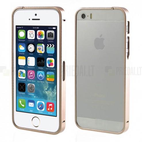 Stilingas šampaninis Apple iPhone SE (5, 5s) rėmelis - kraštų apvadas (bamperis)