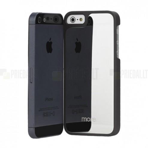 """Juodas """"More"""" veidrodinis Apple iPhone SE (5, 5s) dėklas (dėkliukas)"""