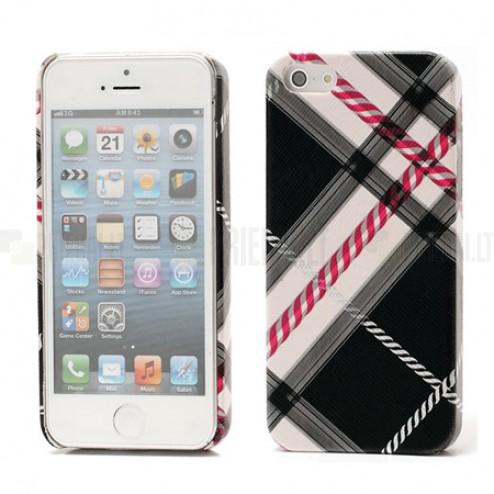 """""""Burberry"""" stiliaus juodas Apple iPhone SE (5, 5s) dėklas (dėkliukas, nugarėlė)"""