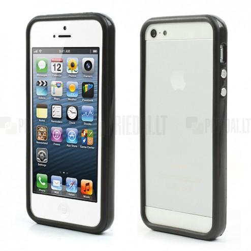 Juodas klasikinis Apple iPhone SE (5, 5s) rėmelis - kraštų apvadas (bamperis)