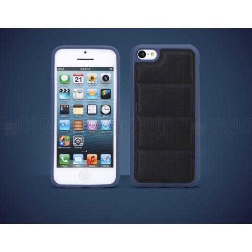 """Juodas """"Rock"""" Grid dirbtinės odos ir kieto silikono (TPU) Apple iPhone SE (5, 5s) dėklas (dėkliukas)"""
