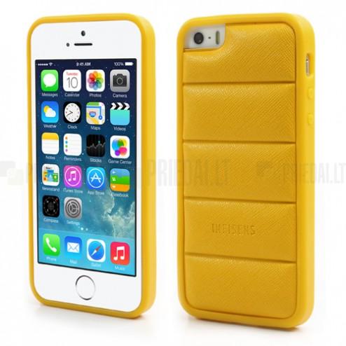 """Geltonas """"Infisens"""" silikoninis Apple iPhone SE (5, 5s) dėklas"""