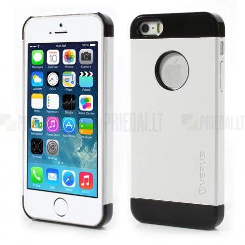 """Baltas su juodomis juostelėmis """"Verus"""" dviejų dalių plastikinis Apple iPhone SE (5, 5s) dėklas"""
