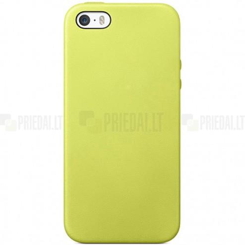 Apple iPhone SE (5, 5s) kieto silikono TPU geltonas (žalsvas) dėklas - nugarėlė