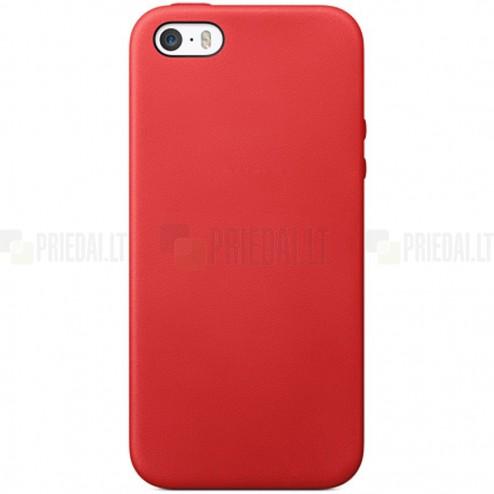 Apple iPhone SE (5, 5s) kieto silikono TPU raudonas dėklas - nugarėlė