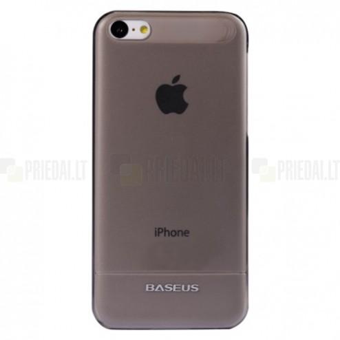 Ploniausias pasaulyje Baseus plastikinis skaidrus Apple iPhone 5C juodas dėklas - nugarėlė