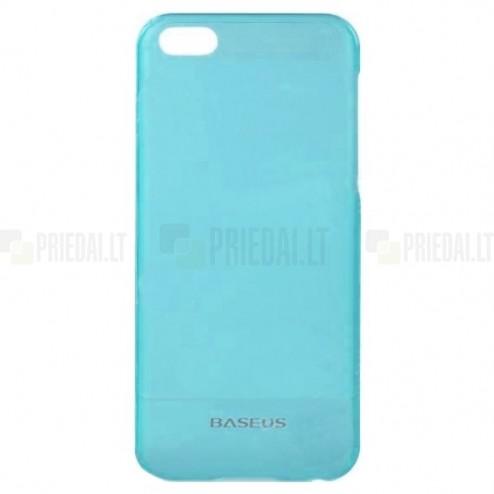 Ploniausias pasaulyje Apple iPhone 5C plastikinis mėlynas dėklas + apsauginė ekrano plėvelė