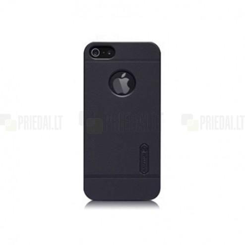 """Juodas """"Nillkin"""" Frosted Shield serijos Apple iPhone SE (5, 5s) dėklas (dėkliukas)"""