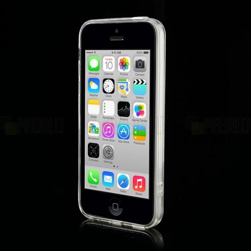 Skaidrus plastikinis bei silikoninis Apple iPhone 5C dėklas (dėkliukas)