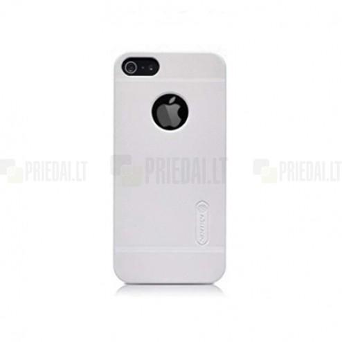 """Baltas """"Nillkin"""" Frosted Shield serijos Apple iPhone SE (5, 5s) dėklas (dėkliukas) su apsaugine ekrano plėvele"""