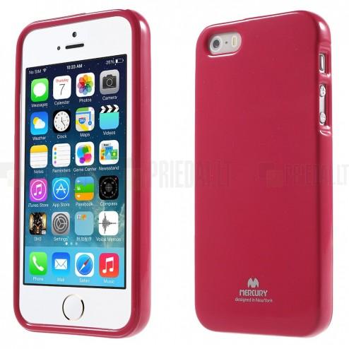 Apple iPhone SE (5, 5s) tamsiai rožinis (koralinis) Mercury kieto silikono (TPU) dėklas