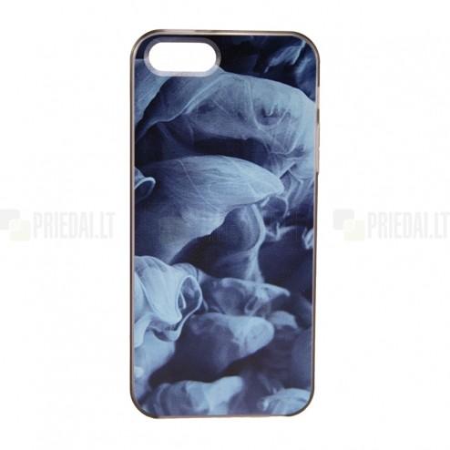 """""""Bullet"""" Apple iPhone SE (5, 5s) kieto silikono TPU dėklas - Blue Smoke (mėlynas dūmas)"""