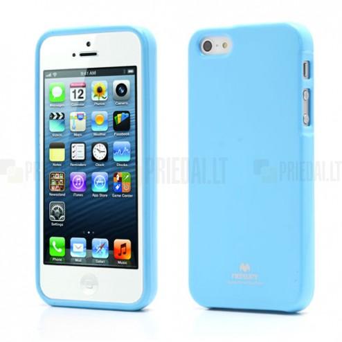 """""""Mercury"""" Color kieto silikono (TPU) šviesiai mėlynas Apple iPhone SE (5, 5s) dėklas (dėkliukas)"""
