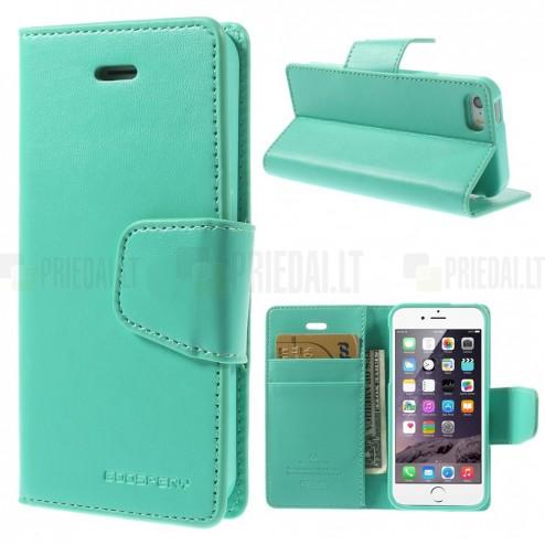 Mercury Sonata atverčiamas Apple iPhone SE (5, 5s) mėtinis odinis dėklas - piniginė