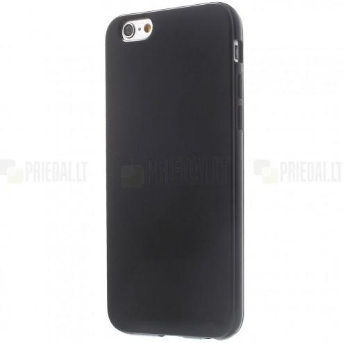 Apple iPhone 6, 6s kieto silikono TPU juodas dėklas - nugarėlė