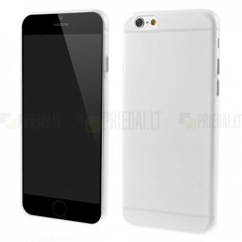 Ploniausias pasaulyje plastikinis skaidrus Apple iPhone 6 (6s) baltas dėklas - nugarėlė