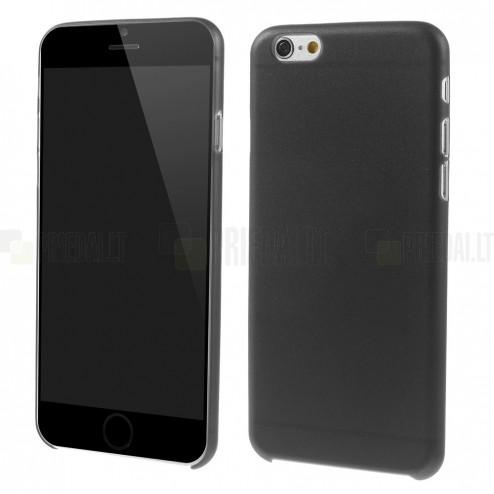 Ploniausias pasaulyje plastikinis skaidrus Apple iPhone 6 (6s) juodas dėklas - nugarėlė