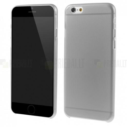 Ploniausias pasaulyje plastikinis skaidrus Apple iPhone 6 (6s) pilkas dėklas - nugarėlė