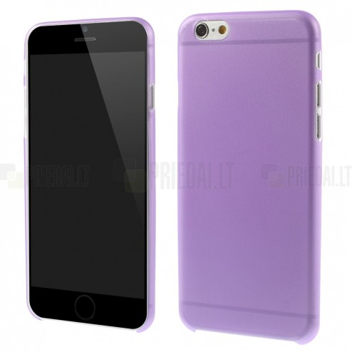 Ploniausias pasaulyje plastikinis skaidrus Apple iPhone 6 (6s) violetinis dėklas - nugarėlė