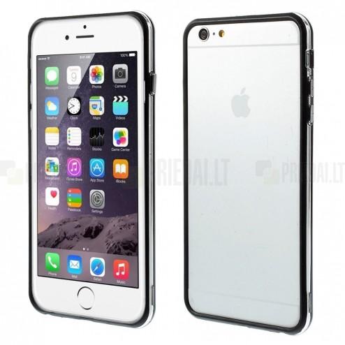 Apple iPhone 6 Plus (6s Plus) skaidrus permatomas rėmelis (kraštų apvadas, bamperis) - juodas