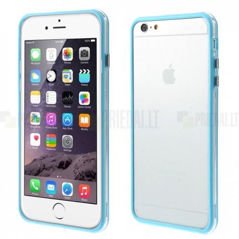 Apple iPhone 6 Plus (6s Plus) skaidrus permatomas rėmelis (kraštų apvadas, bamperis) - šviesiai mėlynas