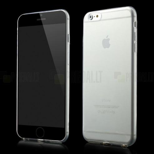 Apple iPhone 6 Plus (6s Plus) skaidrus (permatomas) kieto silikono TPU ploniausias pasaulyje dėklas