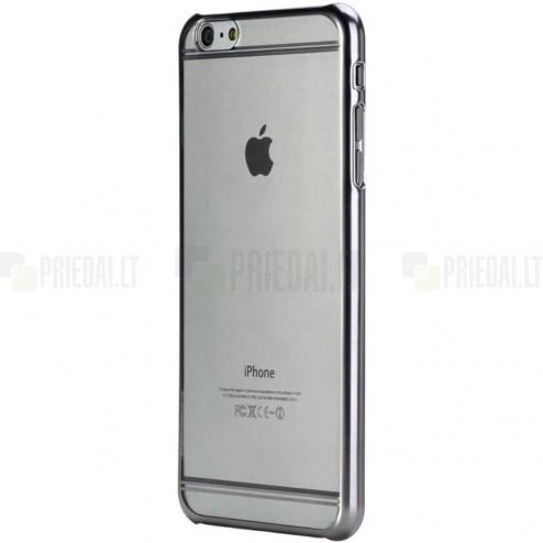 Apple iPhone 6s Plus Rock Neon plastikinis skaidrus permatomas pilkas dėklas