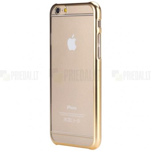 Apple iPhone 6 (6s) Rock Neon plastikinis skaidrus permatomas auksinis dėklas