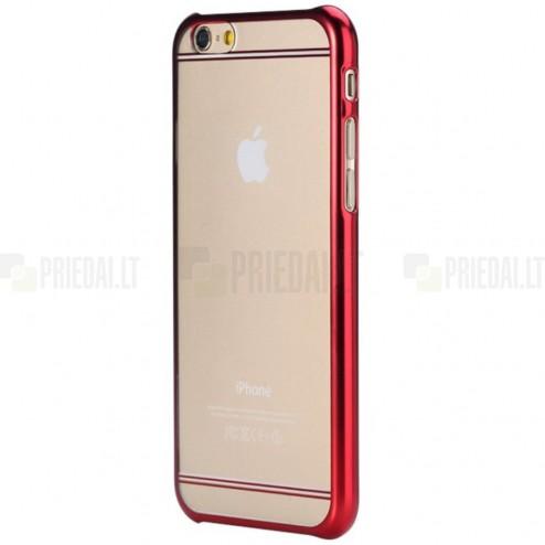 Apple iPhone 6 (6s) Rock Neon plastikinis skaidrus permatomas raudonas dėklas