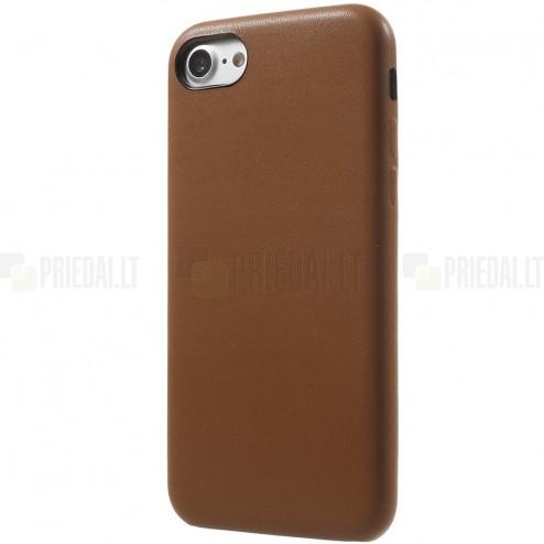 Soft Slim serijos Apple iPhone 7 (iPhone 8) rudas odinis dėklas - nugarėlė