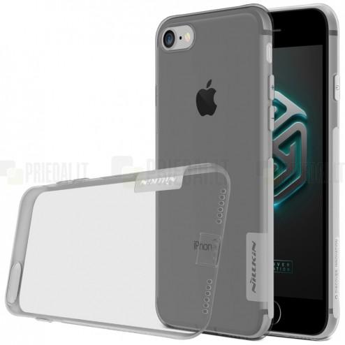 Apple iPhone 7 (iPhone 8) Nillkin Nature plonas skaidrus (permatomas) silikoninis TPU pilkas dėklas