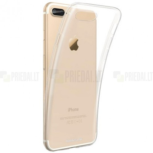 Apple iPhone 7 Plus (iPhone 8 Plus) kieto silikono TPU skaidrus dėklas - nugarėlė
