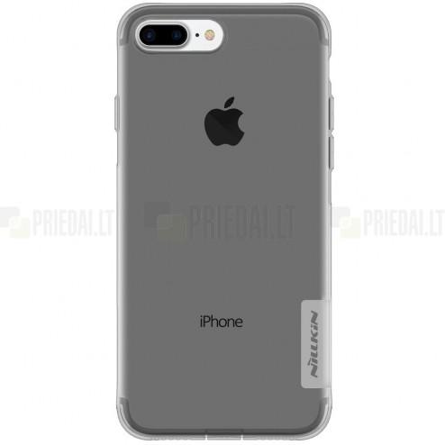 Apple iPhone 7 Plus (iPhone 8 Plus) Nillkin Nature plonas skaidrus (permatomas) silikoninis TPU pilkas dėklas