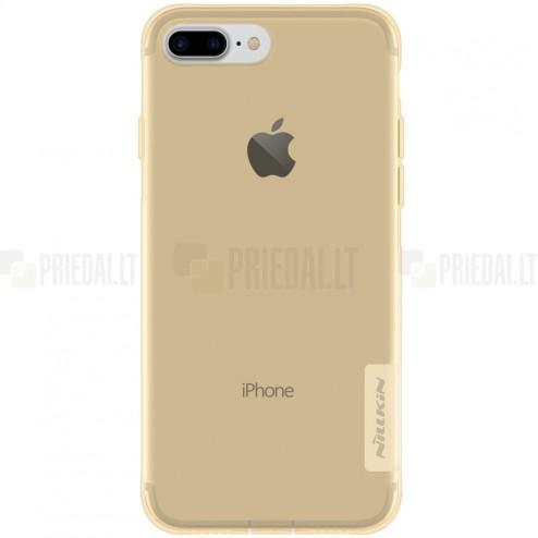 Apple iPhone 7 Plus (iPhone 8 Plus) Nillkin Nature plonas skaidrus (permatomas) silikoninis TPU rudas dėklas