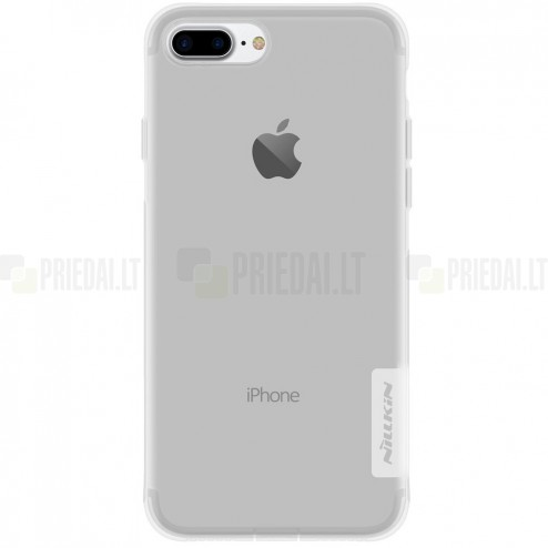 Apple iPhone 7 Plus (iPhone 8 Plus) Nillkin Nature plonas skaidrus (permatomas) silikoninis TPU bespalvis dėklas