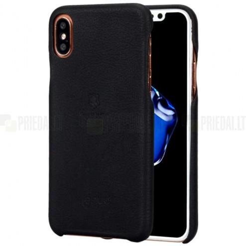 """""""Lenuo"""" Soft Slim serijos Apple iPhone X (iPhone Xs) juodas odinis dėklas - nugarėlė"""