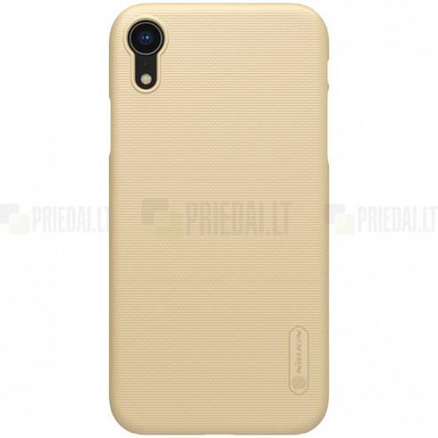 Nillkin Frosted Shield Apple iPhone Xr auksinis plastikinis dėklas
