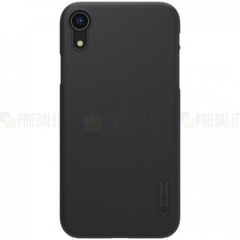 Nillkin Frosted Shield Apple iPhone XR juodas plastikinis dėklas