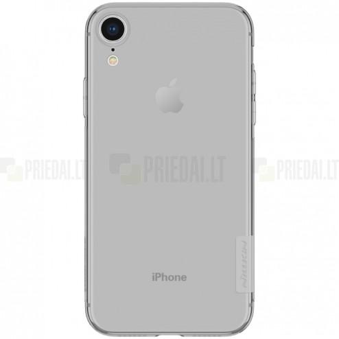 Apple iPhone Xr Nillkin Nature plonas pilkas (permatomas) silikoninis TPU bespalvis dėklas
