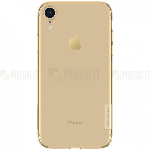 Apple iPhone Xr Nillkin Nature plonas rudas (permatomas) silikoninis TPU bespalvis dėklas