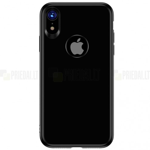 """TOTU"" Soft Frosted Apple iPhone Xr juodas silikoninis dėklas"