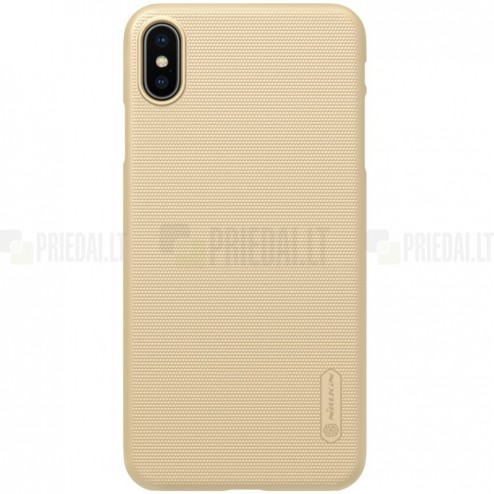 Nillkin Frosted Shield Apple iPhone Xs Max auksinis plastikinis dėklas