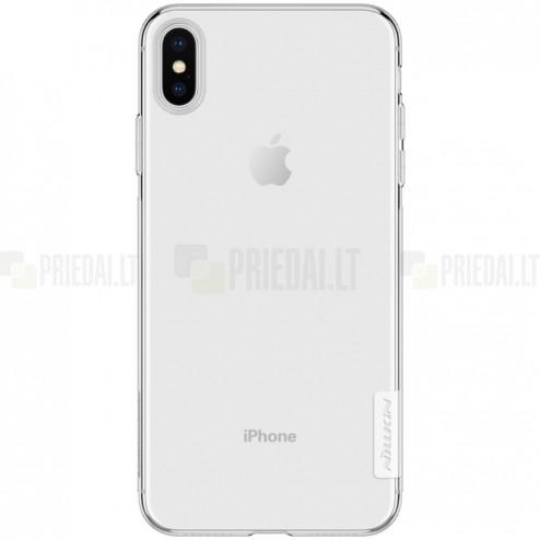 Apple iPhone Xs Max Nillkin Nature plonas skaidrus (permatomas) silikoninis TPU bespalvis dėklas