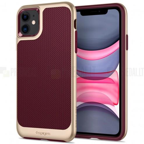 """Spigen"" Neo Hybrid Burgundy sustiprintos apsaugos Apple iPhone 11 bordo dėklas"