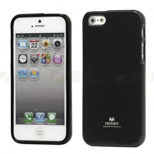 """""""Mercury"""" Color kieto silikono (TPU) juodas Apple iPhone SE (5, 5s) dėklas (dėkliukas)"""