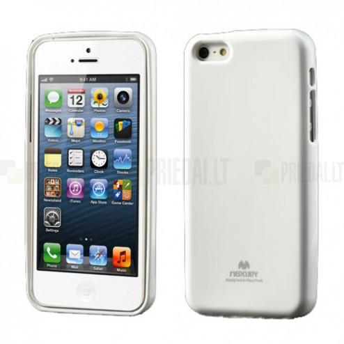 """""""Mercury"""" Color kieto silikono (TPU) baltas Apple iPhone 5C dėklas (dėkliukas)"""