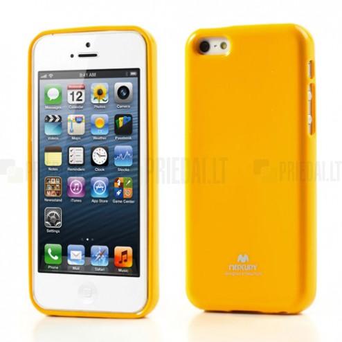 """""""Mercury"""" Color kieto silikono (TPU) geltonas Apple iPhone 5C dėklas (dėkliukas)  / Priedai.lt"""